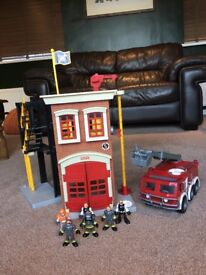Imaginext fire station and engine