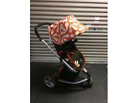 £80 - Cosatto Giggle 3 in 1 Combi Pushcair - Sunny Orange