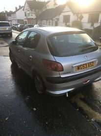 Peugeot 206, Spares or Repairs needs new engine has new clutch,starter motor and recent new exhaust