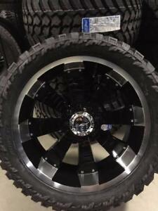 "NEW 24"" WHEEL COMBO!! 35"" OR 37"" TIRES! 8X6.5 DODGE CHEVY GMC!"