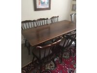 Priory dining table and 6 chairs