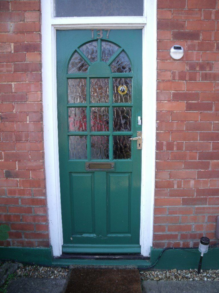 Front Doorhard Wood Outside Door Glazed Obscure Panel Glass In