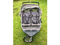 Out 'n' About Nipper 360 double buggy - pram for twins - good condition