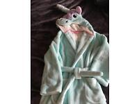 Unicorn bath robe dressing gown