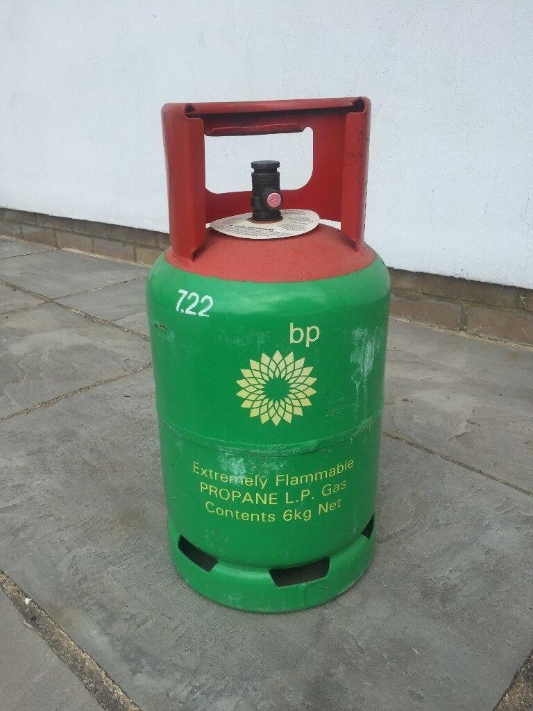 Empty Propane Gas Bottle (6kg) for BBQ, Patio heater etc