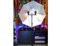 Professional Photo Studio Kit Umbrella Lighting Light Stand & F&V Energy Saving Bulbs/Lamps Set