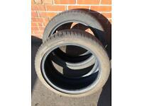 2 tyres part worn 225/45/18 run flats