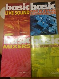 Studio books by Paul White (Sound on Sound)