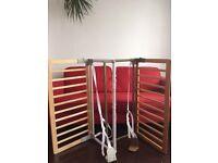 2 x BabyDan Wooden Bed Guards