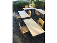 Retro school tables and chairs