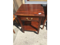 Side table , nice shape , feel free to view Sizes W 16 in D 18 in H 24 in