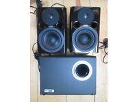 Fostex PM0.4n (pair) + Bass Box 5 Subwoofer - Studio Monitors - speakers