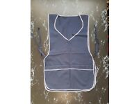 Navy Blue apron with inner zip