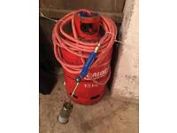 Roofers torch and gas bottle