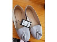 Grey dolly shoes brand new size 4