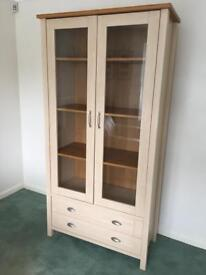 Tall glass display unit / sideboard cupboard
