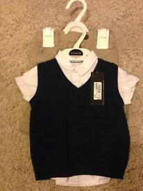 Baby Boy 0-3 month trouser and shirt set