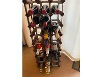 Retro Metal Framed Wine Rack