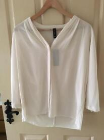 Beautiful cream/off white, Marc Cain loose blouse. Size 14, paid £379, accept £80