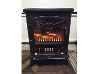 Small Electric Free Standing Log Burning Style 1.8 Kw Fire