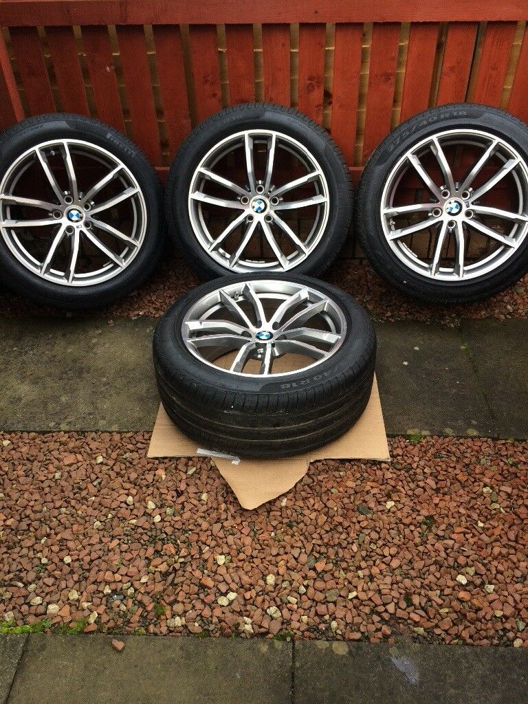 "Genuine BMW 5 series Msport G30 /G31 662M 18"" alloys and Pirelli run flat tyres"