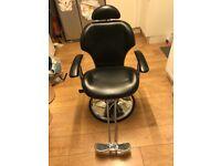 Barbers chair threading chair spa.