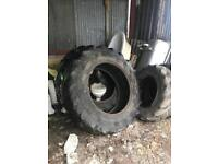 16.9 38 good year tyres John deere 2650 rear and fronts holding air etc