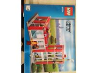 Lego city fire station and police station