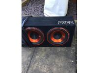 """Subwoofer twin 12"""" with 600w amp"""