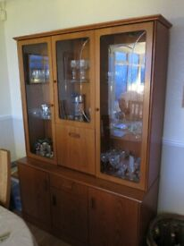 Gplan sideboard and display cabinet