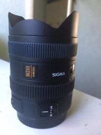 Sigma 8-16mm f4.5-5.6 DC Lens for Canon Digital SLR --- GREAT CONDITIONS !!
