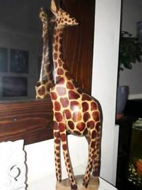 Large wooden giraffe