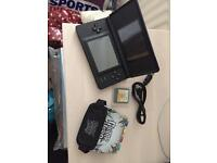 Nintendo DS lite with guitar hero and lead