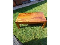 Coffee table lounge table wood