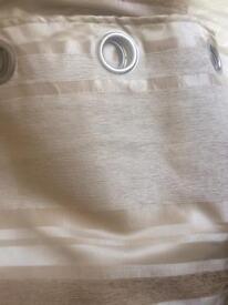 Dunelm extra large cream/beige striped curtains