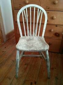 Shabby chic wooden farmhouse dining chair