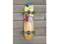 Lush Complete Globe 33 Longboard - Comes with Holey Trucks and Green Wheels