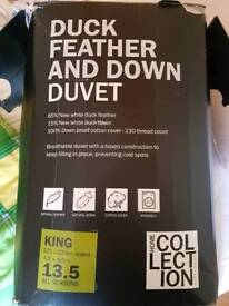 Feather and down duvet - queen size