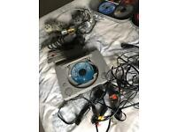 Original Playstation 1 console & 2 controllers + Games