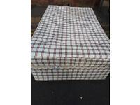 double divan bed good clean divan mattress & headboard in yeovil