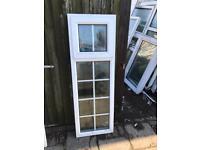 2 White used Upvc windows