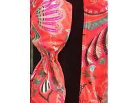 Bright pink floral pattern bikini