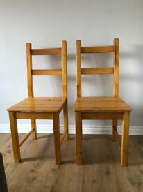 Set of wooden chairs - collection only