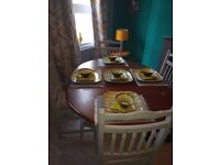 Recycled dinning table and 4 chairs