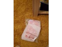 Pack 2 brand new cot sheets pink