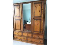 Large pine wardrobe