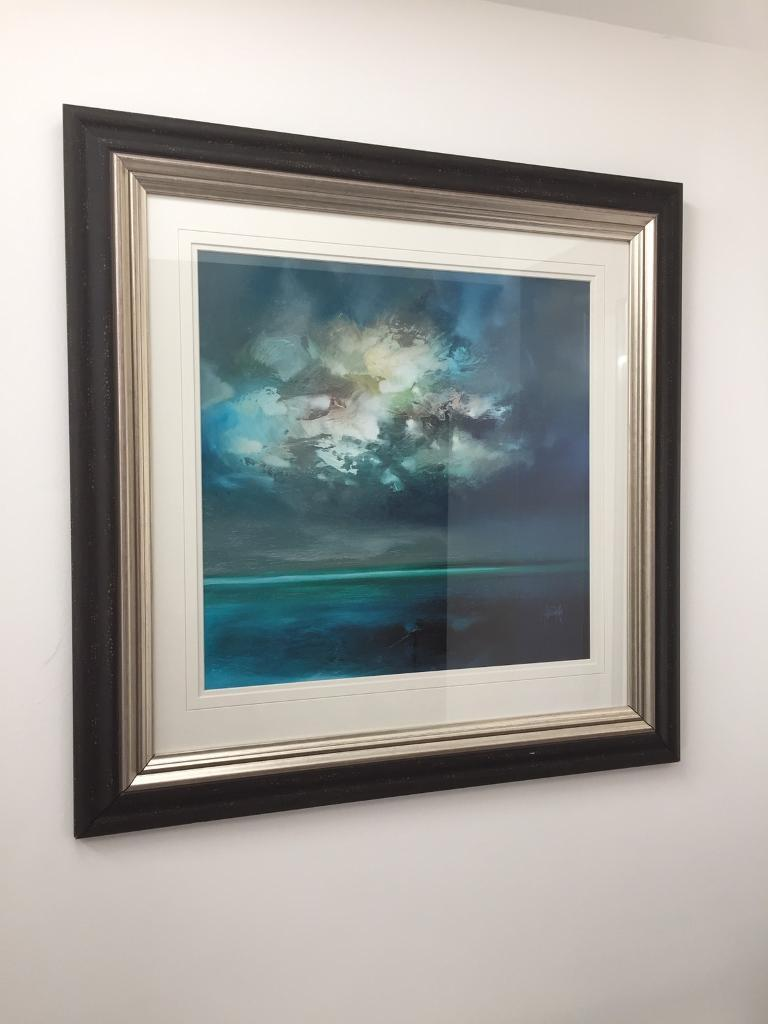Framed Oil Painting - Isle of Skye Emerges by Scott Naismith | in ...