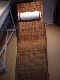 IKEA wicker chaise longue