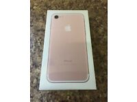 APPLE I PHONE 7 ** 32 GB ** ROSE GOLD ** UNLOCKED ** BRAND NEW *** SEALED **