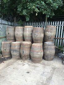Oak barrels solid ex Whisky